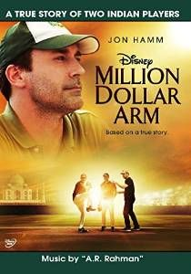 Million Dollar Arm is a 2014 American biographical sports-drama directed by Craig Gillespie. The film stars Jon Hamm, Bill Paxton, and Suraj Sharma of the Life Of Pi fame. The film is based on the real-life events of baseball pitchers, Rinku Singh and Dinesh Patel, who were scouted by sports agent, J B Bernstein, upon their participation in a reality-show competition. The film's score was composed by A R Rahman.
