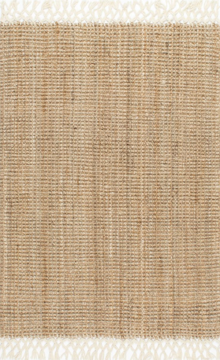 MauiHand Woven Jute With Wool Fringe NT24 Rug
