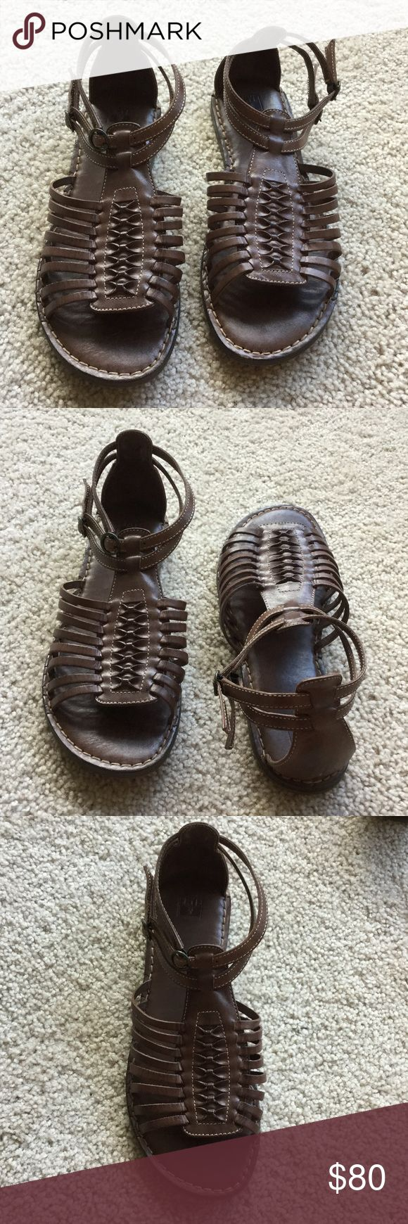 Frye Sandals Size 10 Hardly ever worn Fyre sandals size 10 - color brown.  These are a steal! Frye Shoes Sandals