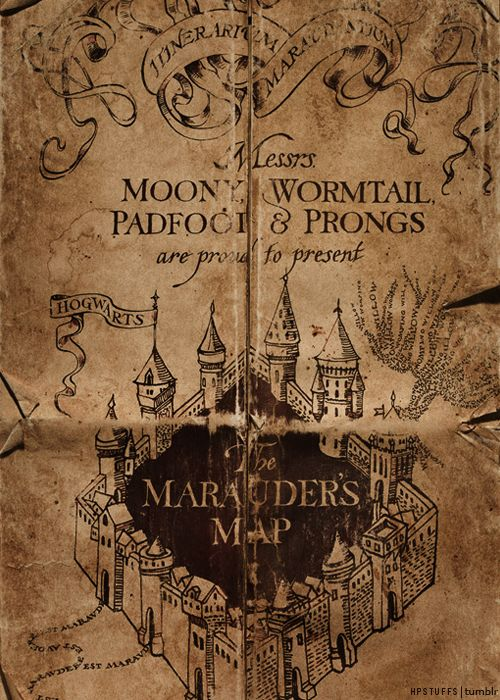 Marauders Map (Harry Potter) | Harry Potter Stuff | Pinterest