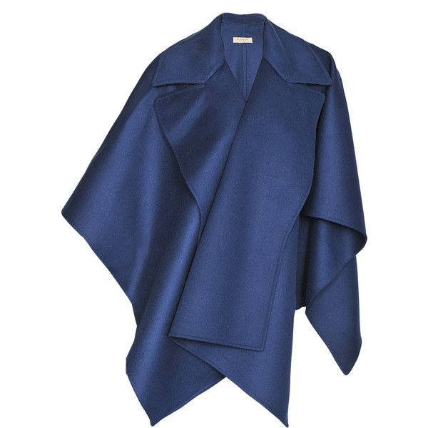 Hayley Menzies Portobello Shearling poncho ($177) ❤ liked on Polyvore featuring outerwear, blue and style poncho