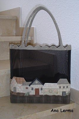 A great use of the black mesh. What a great tote! We've got mesh in many colors, and books with lots in ideas!