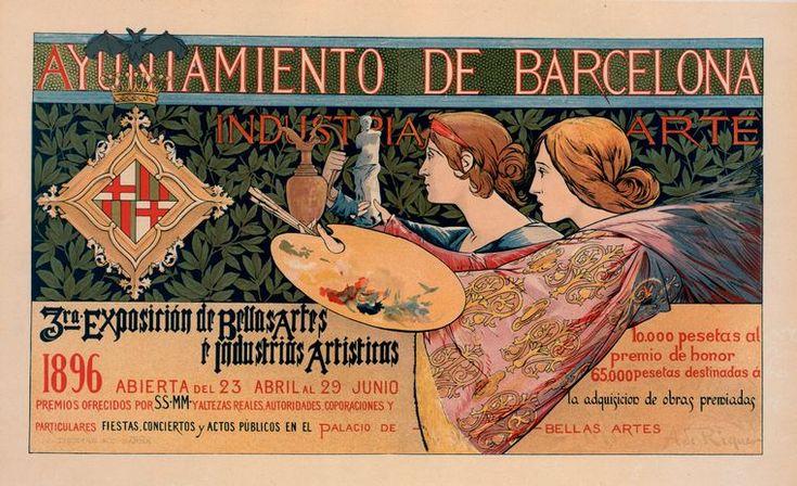 1896 Art Nouveau Poster ~ LÁMINAS ANTIGUAS 3-Ideas y Trabajos terminados (pág. 803) | Aprender manualidades es facilisimo.com