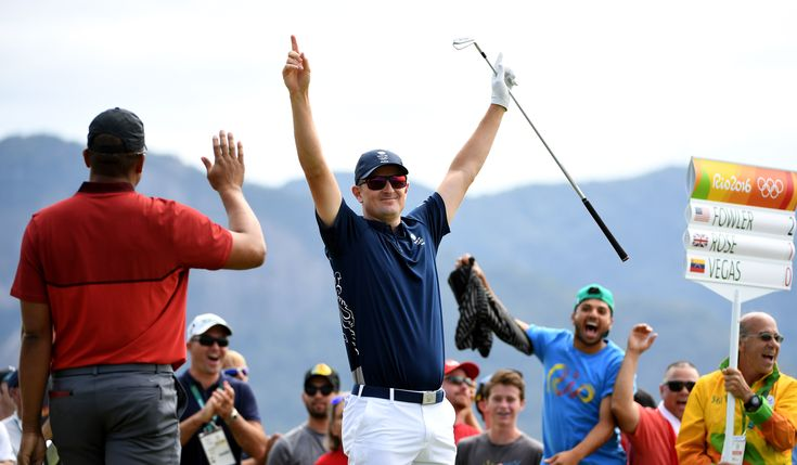Justin Rose cards a hole in one at Rio 2016
