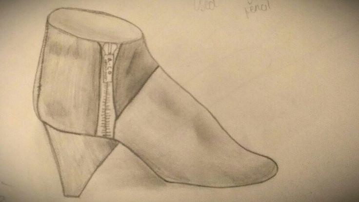Study of a shoe...pencils