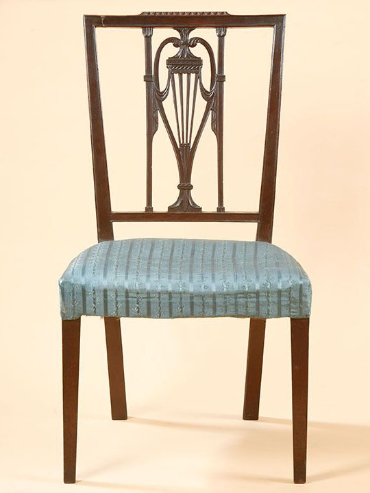 Sheraton Side Chair, Philadelphia, Ca. 1795. Mahogany With Ash And Poplar.