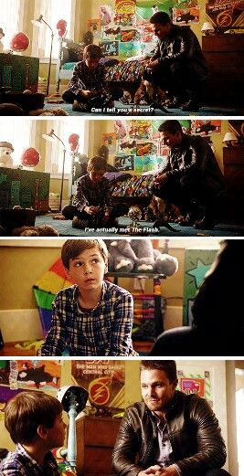 """""""You like The Flash?"""" - Oliver and William #Arrow ((Aww!))"""