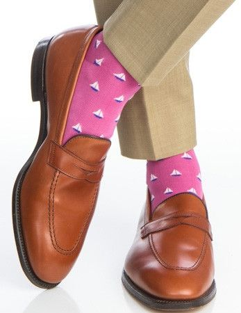 Rose with Clematis Blue Sailboat Sock Linked Toe OTC