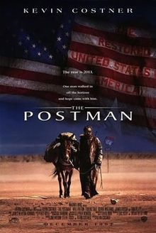 The Postman is an American post-apocalyptic epic film based on the 1985 novel of the same name by David Brin. It was filmed in northeastern Washington (Metaline Falls), Fidalgo Island, Washington, central Oregon and Tucson, Arizona, and was directed by Kevin Costner, who also stars in the film. The film co-stars Will Patton, Larenz Tate, Olivia Williams, James Russo, Daniel von Bargen, Tom Petty, Scott Bairstow, Roberta Maxwell, Mary Stuart Masterson and George Wyner.