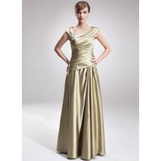 [US$ 142.99] A-Line/Princess V-neck Floor-Length Charmeuse Mother of the Bride Dress With Ruffle Beading (008006308)