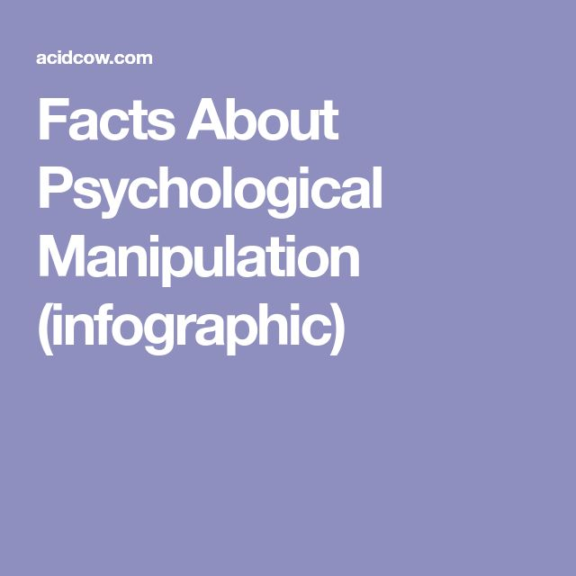 Facts About Psychological Manipulation (infographic)
