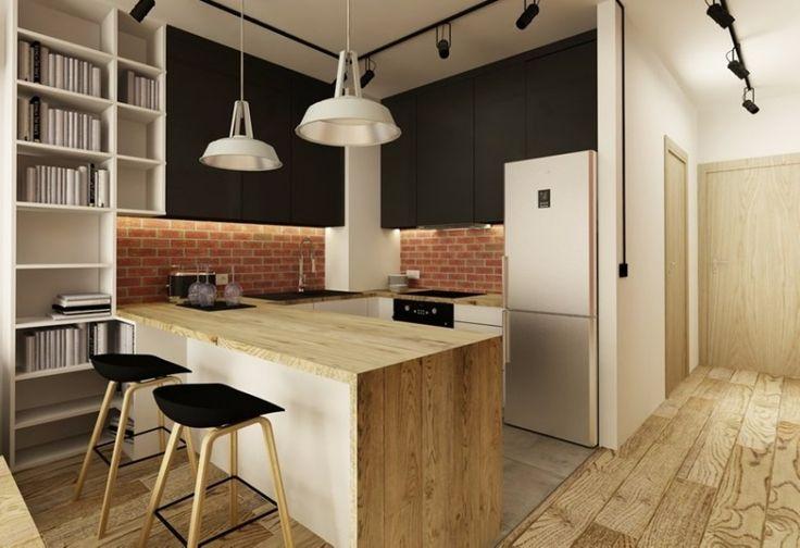 Plancher bar et plan de travail cuisine en bois massif et - Cuisine plan de travail bois massif ...