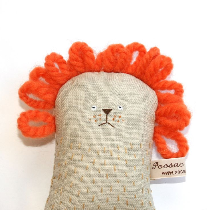Handmade Toy Lion - I love it!  SO making this for Ezekiel one day!