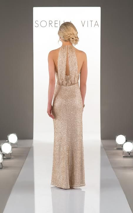 Sorella Vita's bridesmaid collection is amazing for Spring 2017! Loving this gold sequin dress! SO full of class and elegance.
