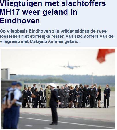 Vrijdag 25 juli 2014 Slachtoffers weer geland in Eindhoven