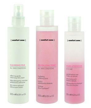 comfort zone make-up entferner, reinigungsmilch, gesichtswasser http://beauty-and-style-hamburg.de/