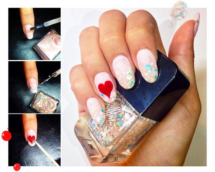 106 best valentine 39 s day images on pinterest valentine nail art manicures and valentines. Black Bedroom Furniture Sets. Home Design Ideas