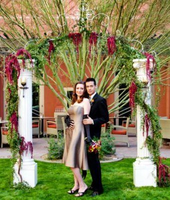 Outdoor Wedding Arch Pillars