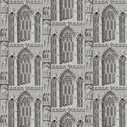 V & A Folly Wallpaper - Grey Stone - £19.99 Homebase