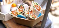 Wraps mit Lachs, Kresse und Ei