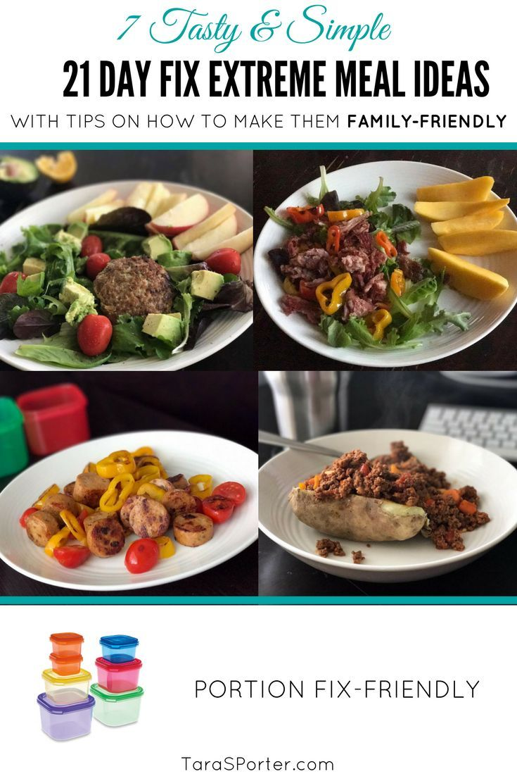 21 Day Fix Extreme Meal Ideas