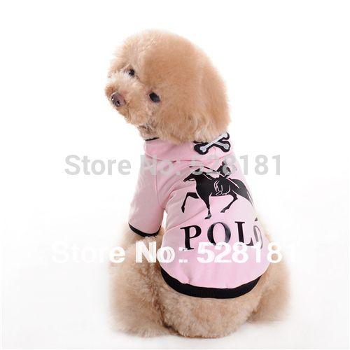 Домашнее животное одежда собака одежда домашнее животное рубашка, Розовый закрытый воротник череп домашнее животное футболки