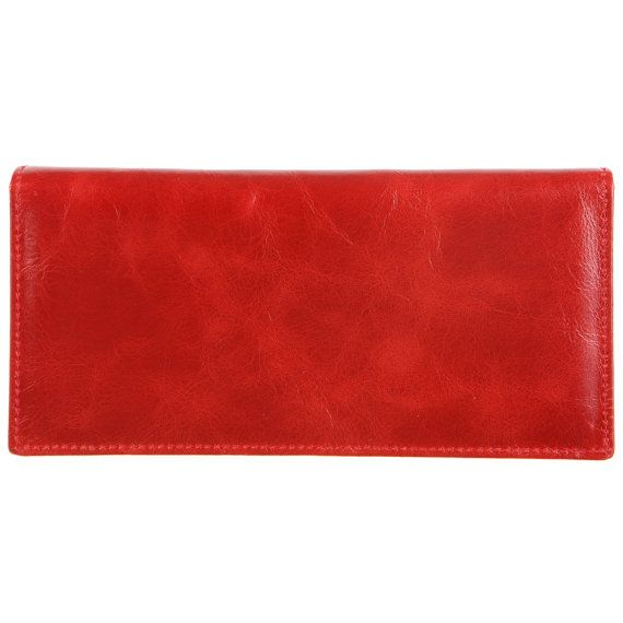 Women Red Wallet, Red skinny bifold wallet, Red wallet, Bifold wallet, Red accessories, Skinny wallet, Summer accessories, wommen accessories, Red love, Red passion, Red leather, Genuine leather by CherePafos
