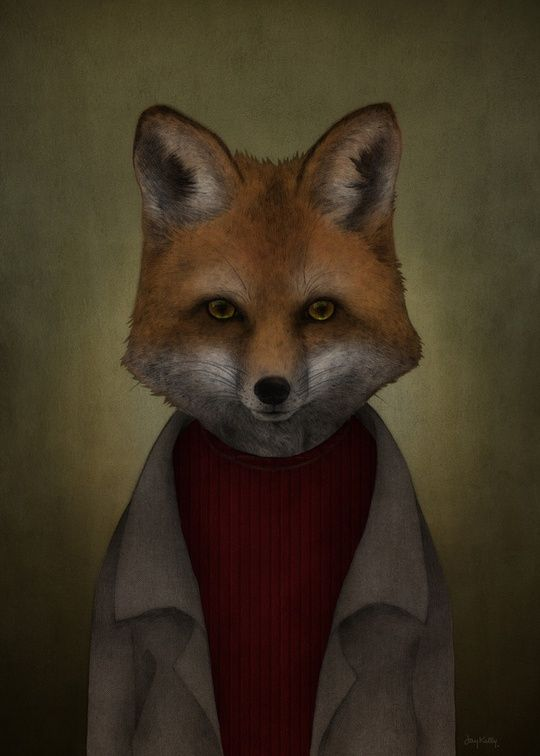 """Fox"" by Jay Kelly Illustration on #INPRNT - #illustration #print #poster #art"