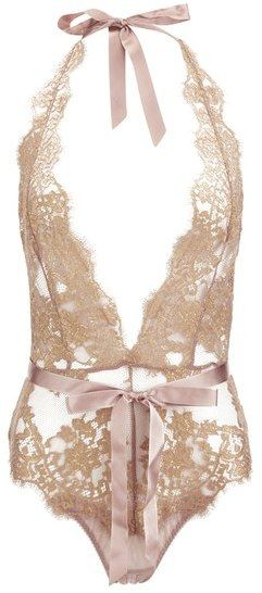 L'Agent by Agent Provocateur Women's Iana Playsuit Taupe/Gold | ♦F&I♦