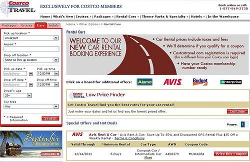 Costco Member Car Rental Discount Code