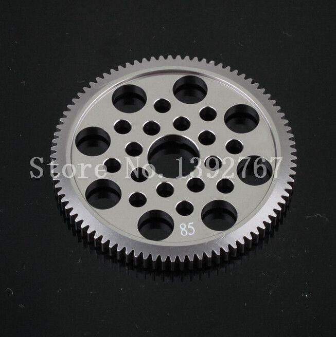 1 шт. сплава 7075 металла 48 P цилиндрическое зубчатое колесо 85 т для Sakura 1 / 10th RC модель дрейф гоночный автомобиль D3 CS S си XIS G31 R31 MST