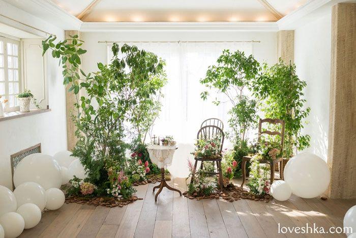 real wedding / 実際のプロデュース / flower / 装花 / tree / green / baloon / バルーン / ウェディング…