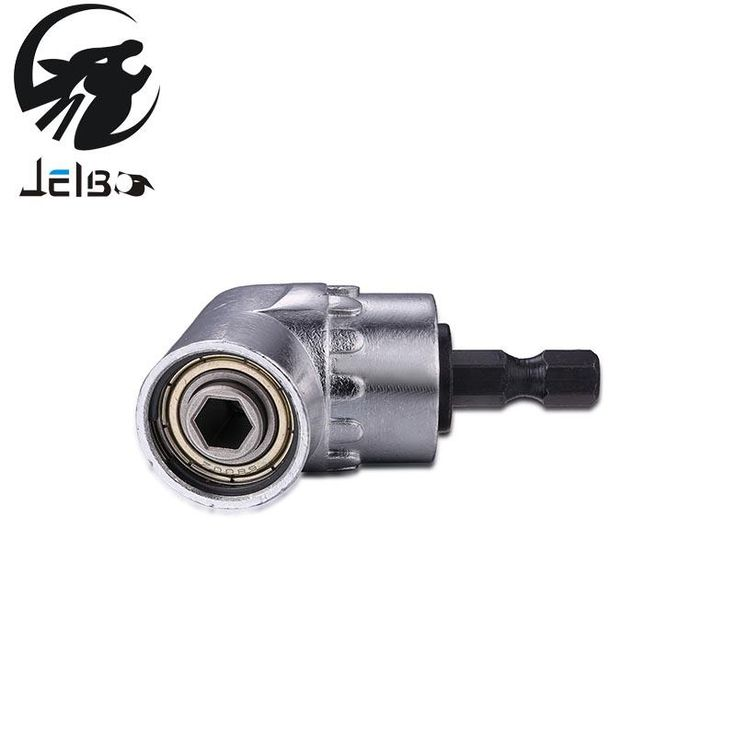 Jelbo 105 Degree Right Angle Driver Angle Extension Power Screwdriver Drill Attachment 1/4inch Hex Bit Socket Holder Adapter