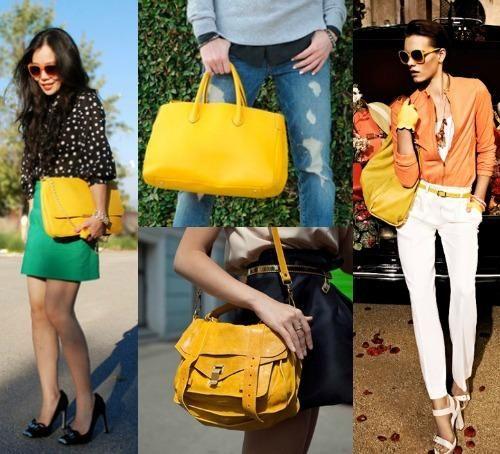 Желтая сумка для всех: цвета и стили