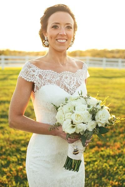 Bride wears Augusta Jones - Skyler