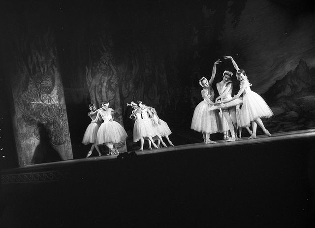Royal Ballet's Swan Lake at the Empire Theatre, Sydney, 10 September 1958 / photographer Ken Redshaw.  Find more detailed information about this photograph: http://acms.sl.nsw.gov.au/item/itemDetailPaged.aspx?itemID=17002.  From the collection of the State Library of New South Wales www.sl.nsw.gov.au