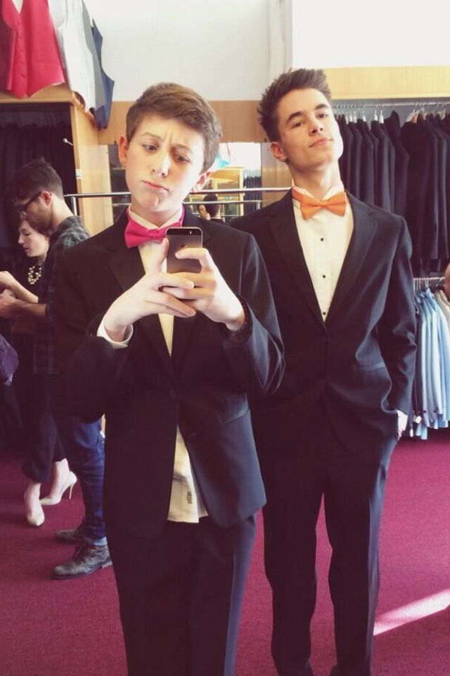 Trevor Moran and Kian Lawley in Tuxes>>> yeah, hi, um could you not? Fangirlling is intensifying