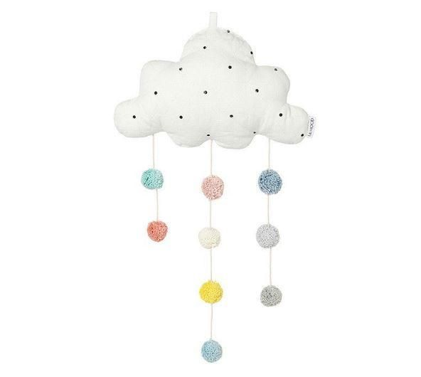 We are absolutely in love with these pom pom cloud mobiles from Danish brand Liewood Design. Perfect for adding a pop of colour to your nursery decor.