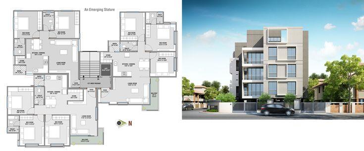 Dibujo de edificio planta y fachada en DIBUJO DE AUTOCAD