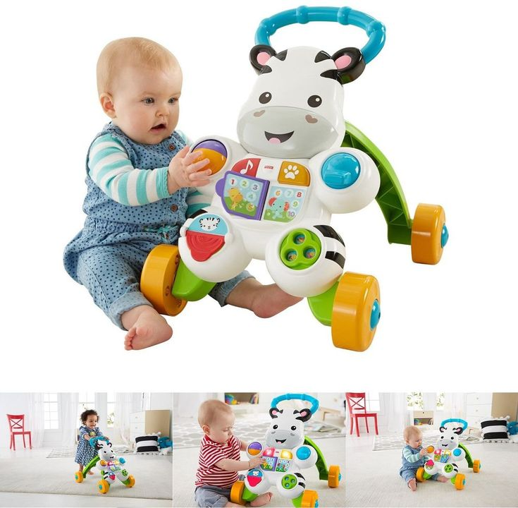 Developmental Baby Toys Learn with Me Zebra Walker Educational Animal 2 Ways New