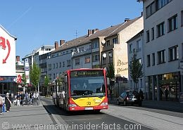 Bus in Hanau , I took this many times to go downtown our main means of transportation. unlike our buses they are clean and on time!