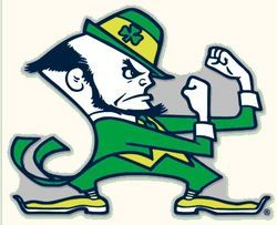 "University Of Notre Dame Decal Mascot 8"" x 8"""