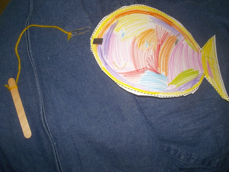 Pin by sue ackerman on preschool easy crafts pinterest for Magnetic fish tape