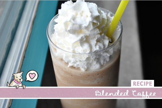 Blended Coffee Recipe - Use brewed coffee and your favorite creamer! So simple and SO delicous