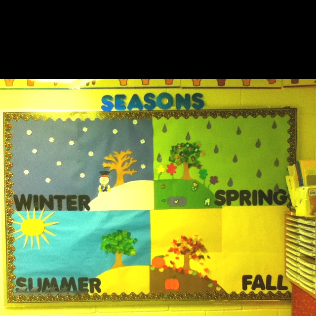 Seasons bulletin board!