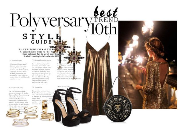 Celebrate Our 10th Polyversary! by nicolepuppy on Polyvore featuring Topshop, Steve Madden and Alexander McQueen