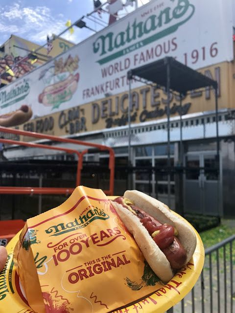 Beveling Brunette #Nathan's #hotdogs #blog #coneyisland