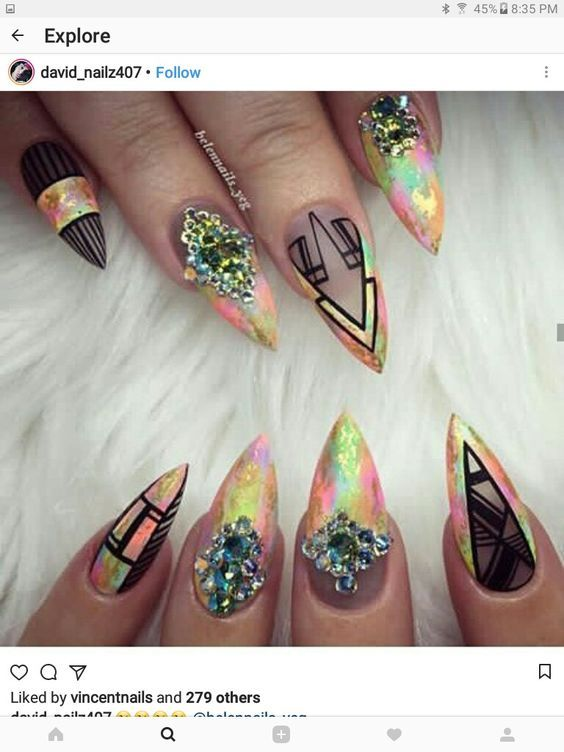 66 Acrylic Stiletto Matte Nail Design For Winter Spring Art Pinterest Nails Designs And