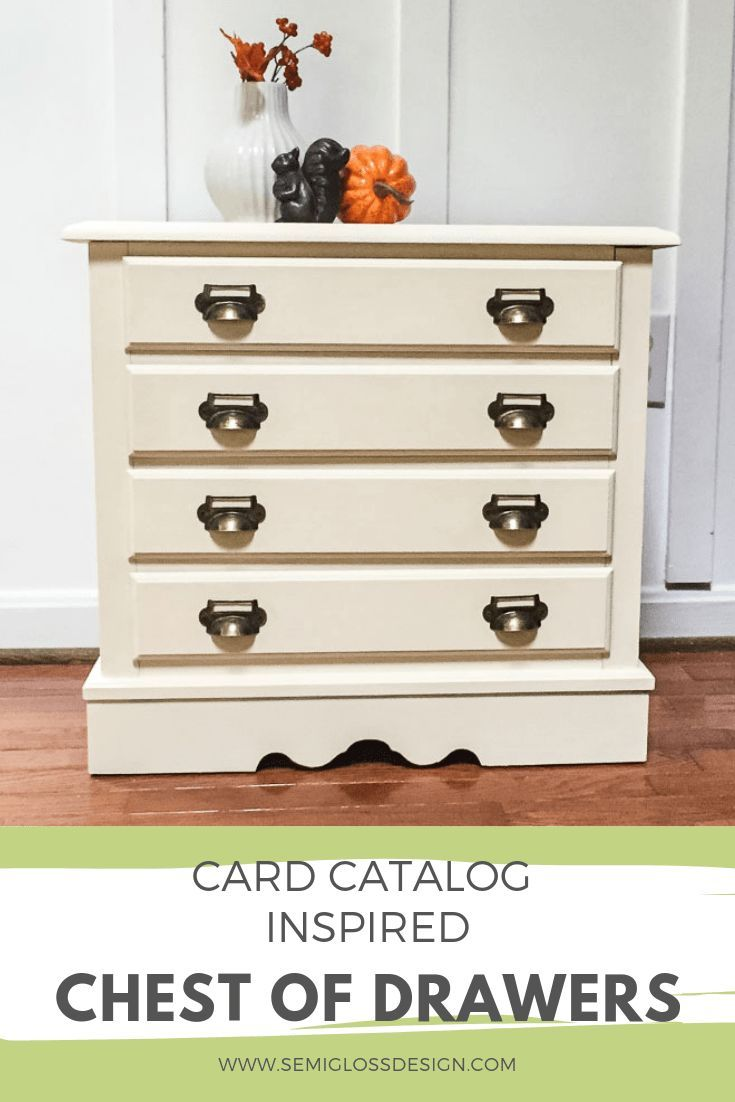 Vintage Inspired Diy Card Catalog Chest Of Drawers Makeover Chest Of Drawers Makeover Diy Furniture Projects Diy Furniture Easy