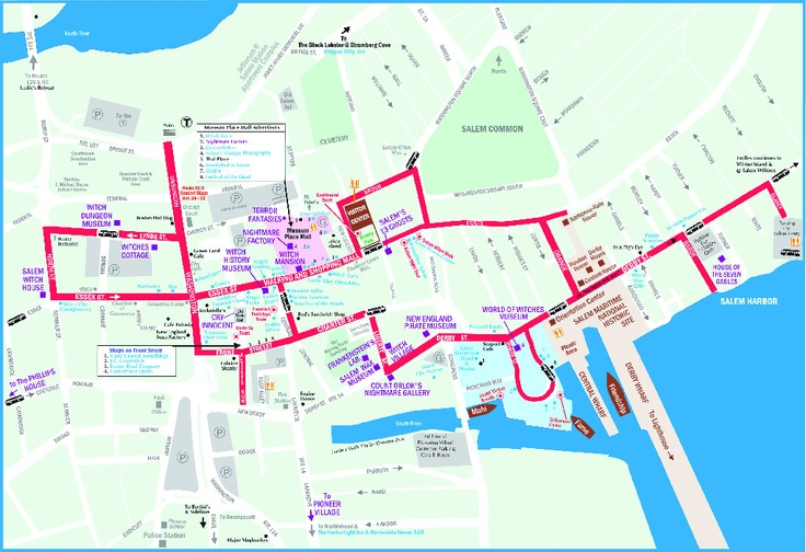2011 Walking MapDowntown Salem  Salem Massachusetts